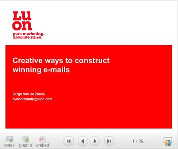 Creative ways to construct winning emails