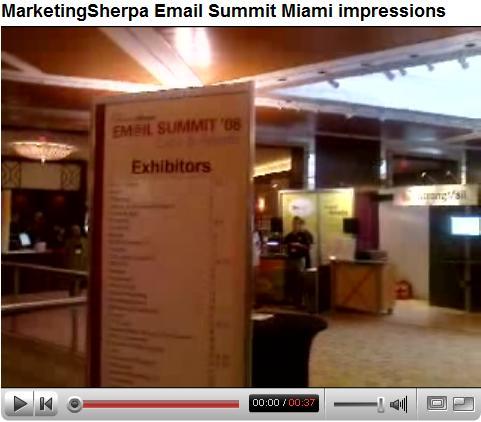 Email marketing summit '08 impressions