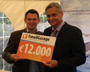 Luc Robijns, general manager EmailGarage and Luc Van den Wijngaert, CEO Van den Wijngaert